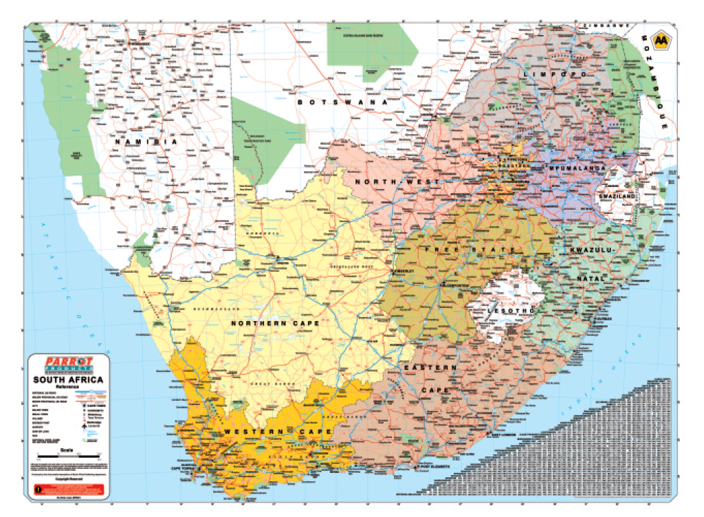 Map - South Africa AA (1200*900mm) - MP0041 | Beyond Revelation ...