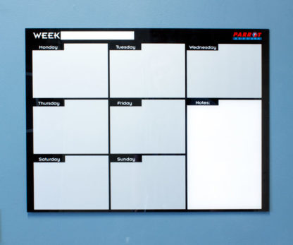 Weekly Planner Cast Acrylic 600 X 450mm -BD7125